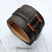 Украшения handmade. Livemaster - original item Bracelet leather. Handmade.