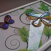 Картины и панно ручной работы. Ярмарка Мастеров - ручная работа Панно с бабочками. Handmade.
