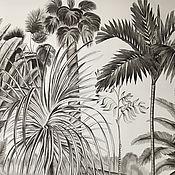 Картины и панно handmade. Livemaster - original item Painting acrylic Tropical forest 100h150 cm. Handmade.