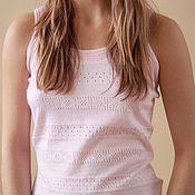 Одежда handmade. Livemaster - original item Women`s t-shirt made of cashmere and silk. Handmade.