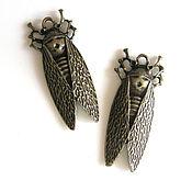 Материалы для творчества handmade. Livemaster - original item Suspension Cicada color bronze. Handmade.