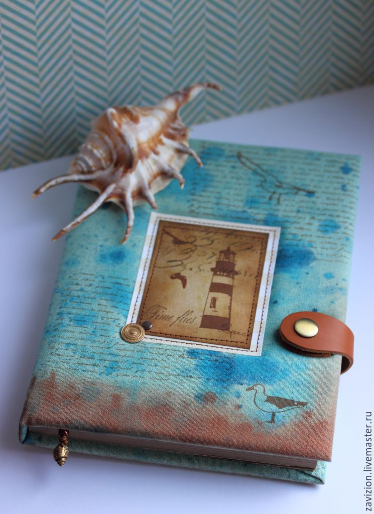 Notebook Sea. a notebook as a gift. Notepad is handmade.To buy a notebook.. A notebook. Notepad custom. Fair Masters