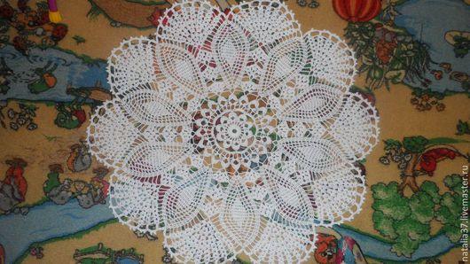 Текстиль, ковры ручной работы. Ярмарка Мастеров - ручная работа. Купить салфетка для дома. Handmade. Белый, салфетка, салфетки