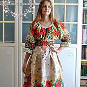 Одежда handmade. Livemaster - original item Dress Russian Slavic