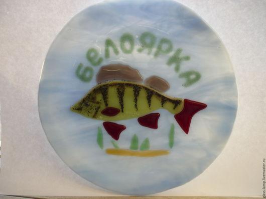 Тарелки ручной работы. Ярмарка Мастеров - ручная работа. Купить Тарелка из цветного стекла. Handmade. Фьюзинг тарелка, сервировка