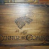"""Для дома и интерьера ручной работы. Ярмарка Мастеров - ручная работа Панно-подставка """"Dinner is coming"""". Handmade."""