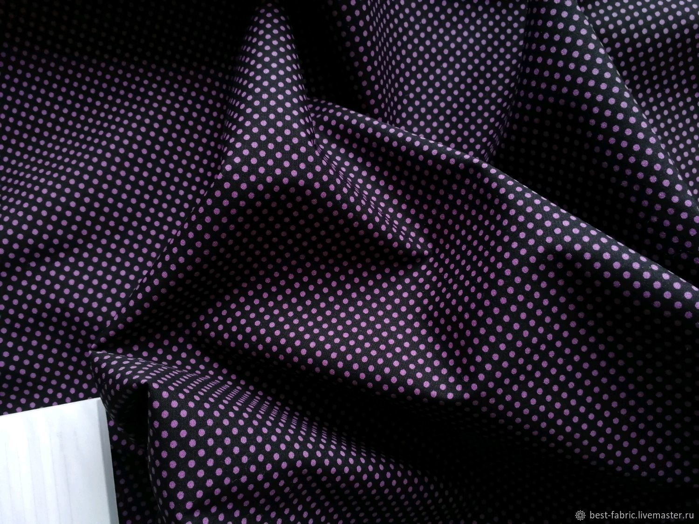 Cotton fabric Purple Polka dot Dreams, Fabric, Moscow,  Фото №1