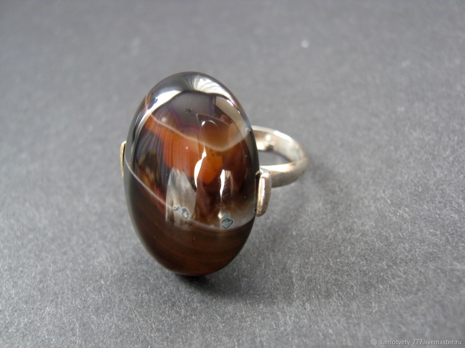 Beautiful ring with natural stone\