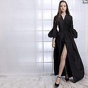 """Одежда ручной работы. Ярмарка Мастеров - ручная работа Шелковое платье """"Мелисента"""" черное. Handmade."""