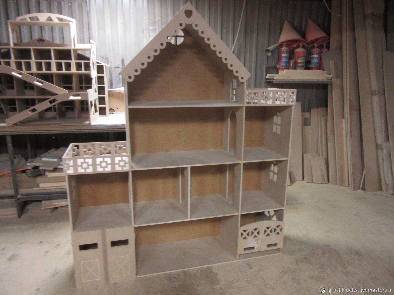 Домик для кукол барби с гаражем и конюшней, Кукольные домики, Подольск,  Фото №1