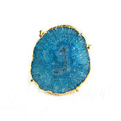 Украшения handmade. Livemaster - original item Large blue ring with quartz