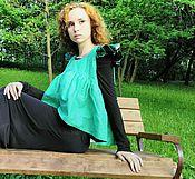 Одежда ручной работы. Ярмарка Мастеров - ручная работа Топ Сочная зелень. Handmade.