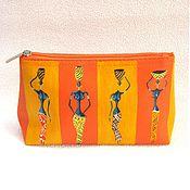 Сумки и аксессуары handmade. Livemaster - original item Cosmetic bag with painting. Handmade.