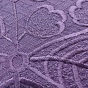 Антикварный японский шелк 60х гг фактурный свышивкой