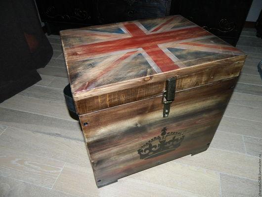 Мебель ручной работы. Ярмарка Мастеров - ручная работа. Купить Тумба в стиле лофт (Union Jack). Handmade. Коричневый