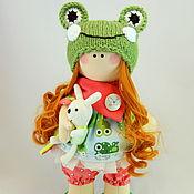 Куклы и игрушки ручной работы. Ярмарка Мастеров - ручная работа Девочка-лягушонок. Handmade.