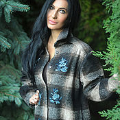 Одежда handmade. Livemaster - original item Warm shirt with hand embroidery