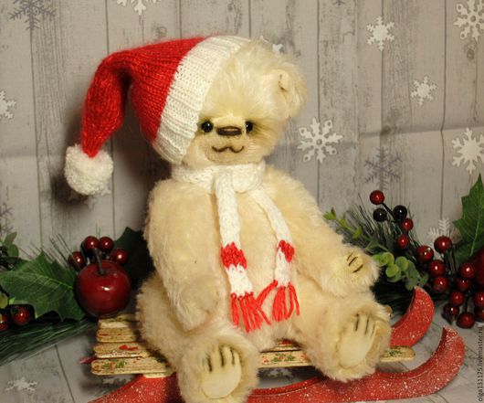 """Мишки Тедди ручной работы. Ярмарка Мастеров - ручная работа. Купить Мишка """"Новогодний гномик"""". Handmade. Мишка, интерьерная игрушка"""