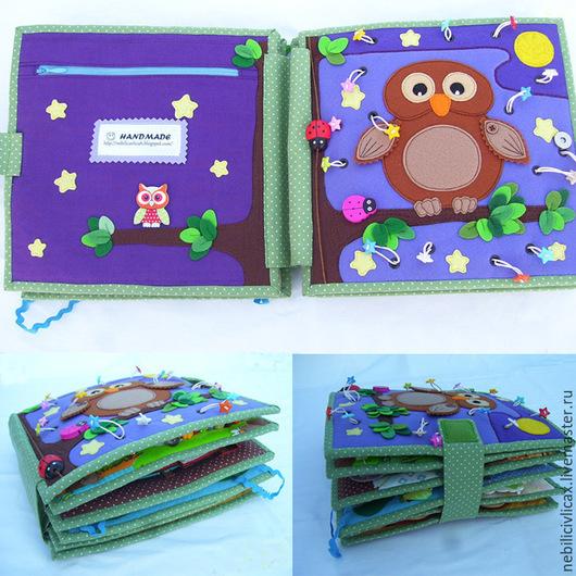 Развивающие игрушки ручной работы. Ярмарка Мастеров - ручная работа. Купить Развивающая книга для деток от 1,5 до 3,5 лет. Handmade.