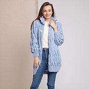 Одежда handmade. Livemaster - original item Blue women`s coat demi-season. Handmade.
