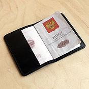 Сумки и аксессуары handmade. Livemaster - original item Passport cover. black. Handmade.