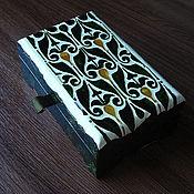 Для дома и интерьера handmade. Livemaster - original item Jewelry box with hand-painted number №2. Handmade.
