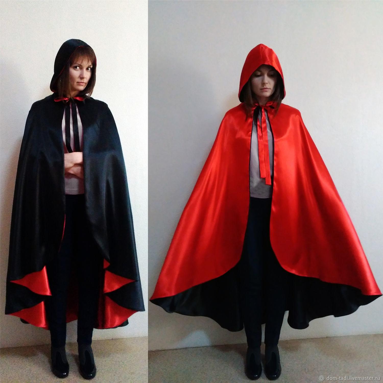 1 Adult Kids Boy Halloween Fancy Party Costume Cosplay Vampire Black Cape Cloak