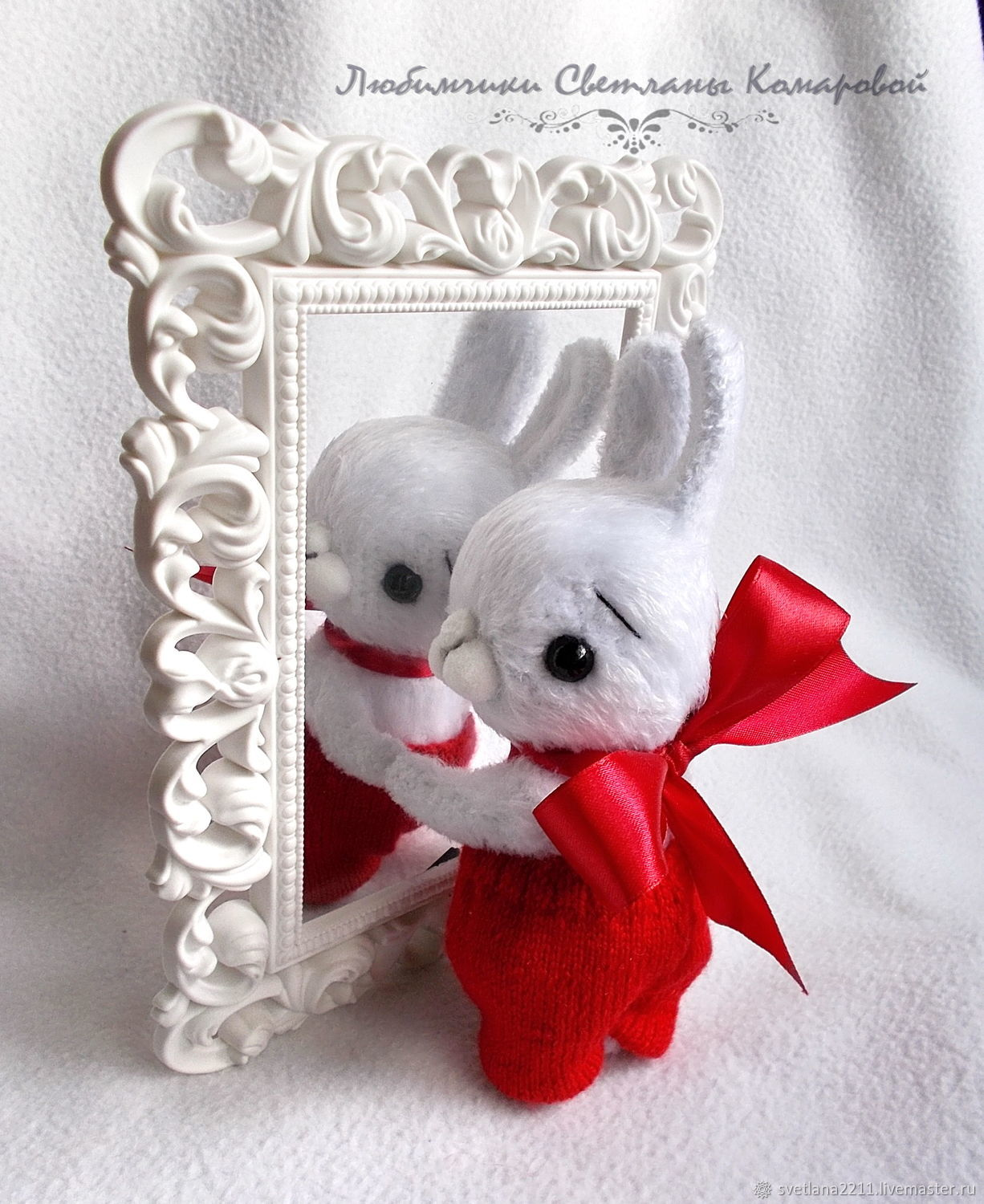 Bunny with a bow (repeat 2 and 3), Stuffed Toys, Chekhov,  Фото №1