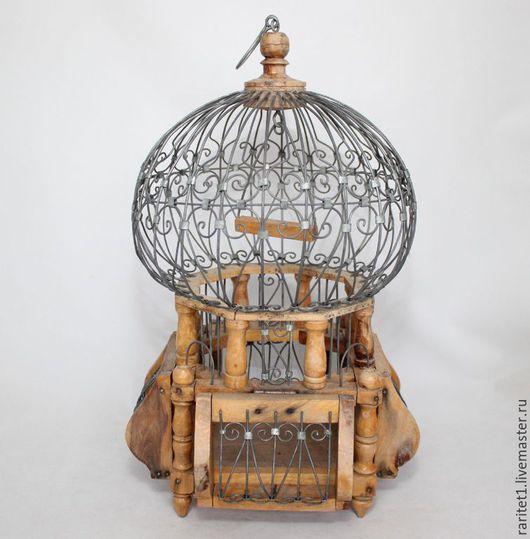 Винтажные предметы интерьера. Ярмарка Мастеров - ручная работа. Купить Клетка для птиц оцинкованная садок Англия 3. Handmade. Разноцветный