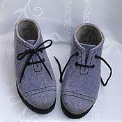 """Обувь ручной работы. Ярмарка Мастеров - ручная работа Ботинки валяные """"Сиреневый туман"""" р.37. Handmade."""