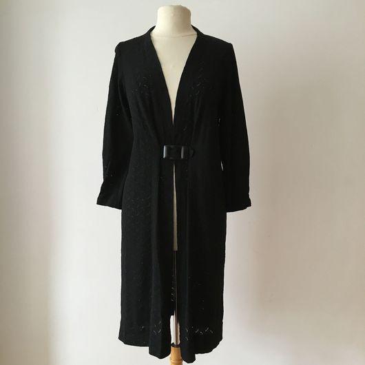 Одежда. Ярмарка Мастеров - ручная работа. Купить Легкое пальто ( шазюбль ) 1940-х годов с бакелитовой пряжкой. Handmade.