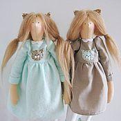 Куклы и игрушки ручной работы. Ярмарка Мастеров - ручная работа Тильда Маша и Наташа Кошкины. Handmade.