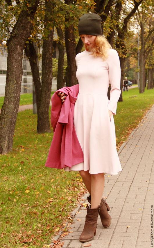 Платья ручной работы. Ярмарка Мастеров - ручная работа. Купить Платье-пудра-03. Handmade. Бледно-розовый, Платье нарядное