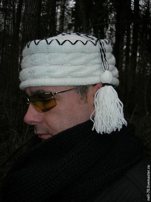 """Для мужчин, ручной работы. Ярмарка Мастеров - ручная работа. Купить Шапка """"Пуштунка 2"""". Handmade. Белый, шапка зимняя"""