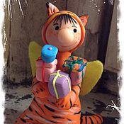 """Подарки к праздникам ручной работы. Ярмарка Мастеров - ручная работа Фигурка """"Фей в тигриной шкуре"""". Handmade."""