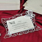 """Свадебный салон ручной работы. Ярмарка Мастеров - ручная работа Пригласительные """"Бабочки"""" с персонализацией. Белые.. Handmade."""