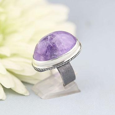 Decorations handmade. Livemaster - original item Ring with amethyst. Silver.. Handmade.