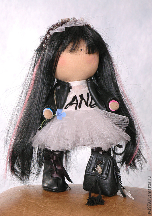Кукла Тильда `Байкерша`