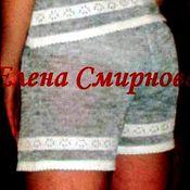 Одежда handmade. Livemaster - original item 100% linen yarn knitted shorts Beauty. Handmade.