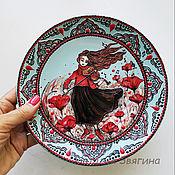 Посуда handmade. Livemaster - original item The interior plate Maki. Hand painted. Gift. Handmade.