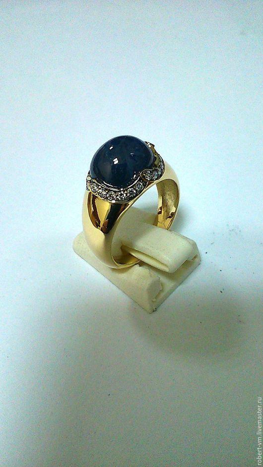 Кольца ручной работы. Ярмарка Мастеров - ручная работа. Купить кольцо с сапфиром. Handmade. Сапфир, золотое кольцо, кобошон, кобошон