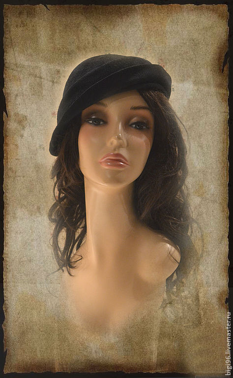Fedoras & formal hats handmade. Livemaster - handmade. Buy hat 'coquette' black.Hat