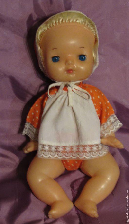 """Винтажные куклы и игрушки. Ярмарка Мастеров - ручная работа. Купить """"Младенец в конверте"""" - кукла из СССР. Handmade. Оранжевый, Кукла-младенец"""