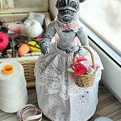 """Куклы и пупсы ручной работы. Ярмарка Мастеров - ручная работа Кукла-игольница """"Барышня-собака"""". Handmade."""