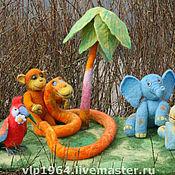 """Куклы и игрушки ручной работы. Ярмарка Мастеров - ручная работа Игровая композиция """"38 попугаев"""". Handmade."""