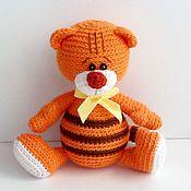 Куклы и игрушки ручной работы. Ярмарка Мастеров - ручная работа Вязаная игрушка Тигренок. Handmade.