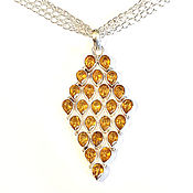 "Украшения handmade. Livemaster - original item Pendant with chain ""honey Drop"", citrine. Handmade."