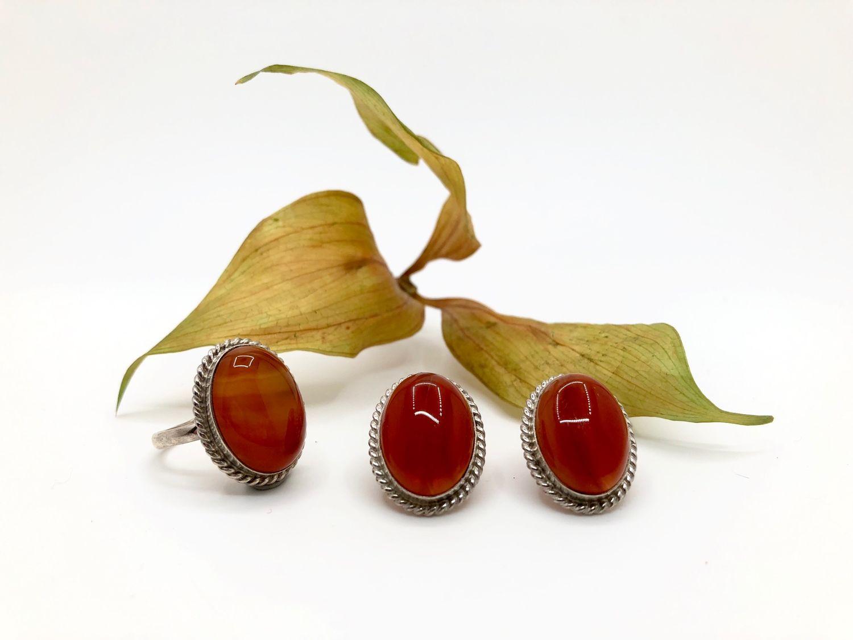 set with carnelian, Jewelry Sets, Feodosia,  Фото №1