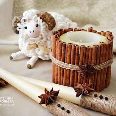 """Свадебный салон ручной работы. Ярмарка Мастеров - ручная работа Свадебные свечи """"Семейный очаг"""" с корицей и бадьяном. Handmade."""