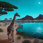 Картины и панно handmade. Livemaster - original item Refined the giraffe wanders. (artist Vladimir Tarasov). Handmade.